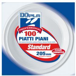 Piatti piani - ø 205 mm - DOpla Professional - conf. 100 pezzi