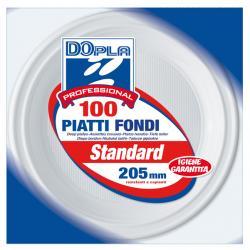 Piatti fondi - ø 205 mm - DOpla Professional - conf. 100 pezzi