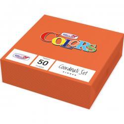 Tovaglioli di carta - 33x33 cm - 2 veli - arancio - DOpla - conf. 50 pezzi