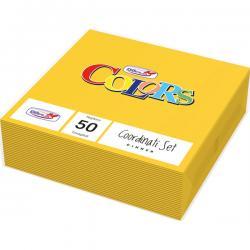 Tovaglioli di carta - 33x33 cm - 2 veli - giallo - DOpla - conf. 50 pezzi