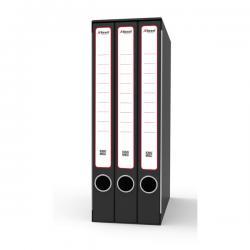 Gruppo registratori Terzetto - con 3 cartelle 3 lembi - 25,5x34,5 cm - dorso 15 cm - grigio - Rexel