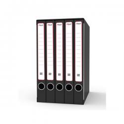 Gruppo registratori Quintetto - con 5 cartelle ad anelli - 23x32 cm - dorso 23 cm - grigio - Rexel