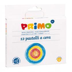Pastelli a cera jumbo - 100mm - ø10,5mm - Primo - Conf. astuccio 12 colori