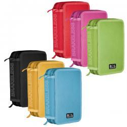 Astuccio 3 zip colors - 13x20x7.5cm - colori assortiti - Ri.plast