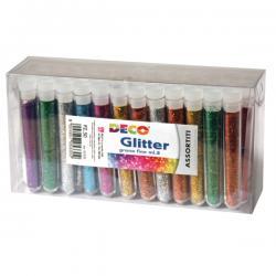 Glitter grana fine - 12ml - colori assortiti - CWR - Conf. 50 tubi