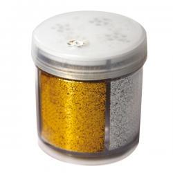 Glitter grana fine - 40ml - barattolo dispenser - 4 colori assortiti - CWR