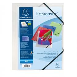 Cartella personalizzabile Kreacover® - con elastico - PP - 24x32 cm - bianco trasparente - Exacompta