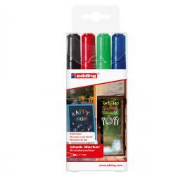 Marcatore Ending 4095 - punta tonda da 2,00-3,00mm - astuccio 4 colori: nero,rosso,blu, verde chiaro - Edding - astuccio 4 marc