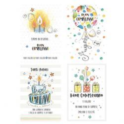 Biglietto Buon Compleanno - c/rifiniture - tema generico - Kartos