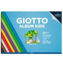 Album Kids Carta Carta colorata 2+ - A4 - 120gr - 30 pezzi - Giotto