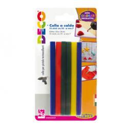 Stick colle - colori assortiti - lungh.10cm-Ø.7mm - 12 pezzi - CWR