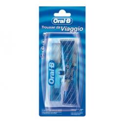 Trousse da viaggio OralB - spazzolino + 2 dentifrici da 15 ml