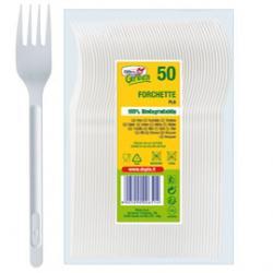 Forchette in PLA Compact - bianco - Dopla Green - conf. 50