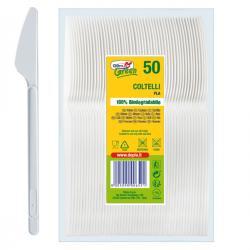 coltelli in PLA Compact - bianco - Dopla Green - conf. 50