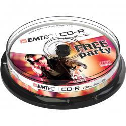 Emtec - CDR - 80min/700mb, 52x, spindle - conf. 10 pz