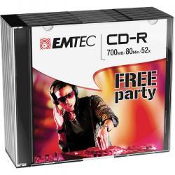 Emtec - CDR - 80min/700mb, 52x, slim case - conf. 10 pz