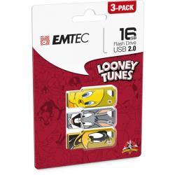 Emtec - USB - 2.0, Titty, Bugs Bunny, Daffy Duck, 16GB - conf. 3 pezzi