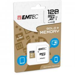 Emtec - Micro SDXC - class 10 gold Plus, con adattatore, 128GB