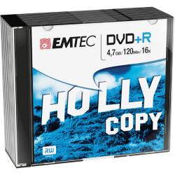 Emtec - DVD+R - registrabile, 4,7GB, 16x slim case - conf. 10 pz