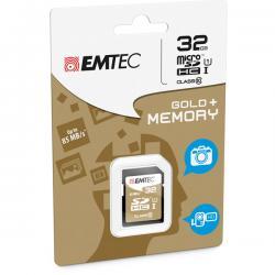 Emtec - SDHC - class 10 gold Plus, 32GB