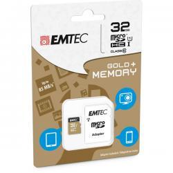 Emtec - Micro SDHC Class 10 Gold + con Adattatore - ECMSDM32GHC10GP - 32GB