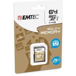 Emtec - SDXC - class 10 gold Plus, 64GB
