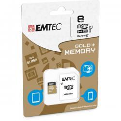 Emtec - Micro SDHC - Gold+ - 8 GB - classe 10 - adattatore incluso