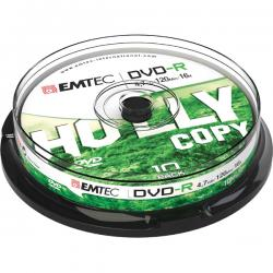 Emtec - DVDR - registrabile, 4,7GB, 16x spindle - conf. 10 pz