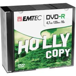 Emtec - DVDR - registrabile, 4,7GB, 16x, slim case - conf. 10 pz