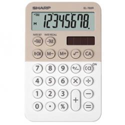 Calcolatrice tascabile EL 760R - 8 cifre - beige/bianco - Sharp - EL760RBLA