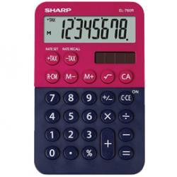 Calcolatrice tascabile EL 760R - 8 cifre - rosso/blu - Sharp - EL760RBRB