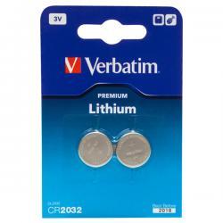 Verbatim - micropile - a pastiglia, cr2032 litio 3v - conf. da 2