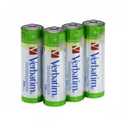 Verbatim - batterie - AA, ricaricabili capacita' 2.500 mah - conf. da 4