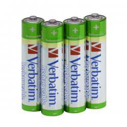 Verbatim - batterie - AAA, ricaricabili capacita' 1000 mah - conf. da 4