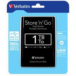 Verbatim - Hard disk Store 'N'Go Usb 3.0 - Nero - 53023 - 1TB