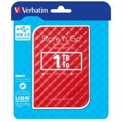 Verbatim - usb - 3.0 portatile store 'n' go 1tb rosso 9.5mm drive