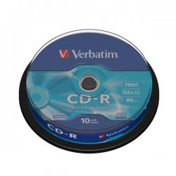 Verbatim - CD-R - datalife spindle 1x/52x 700mb serigrafato crystal - Conf. da 10 cd