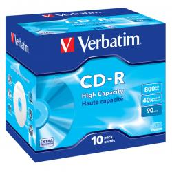 Verbatim - CD-R - datalife jewel case 1x/40x 800mb serigrafato - Conf. da 10 cd