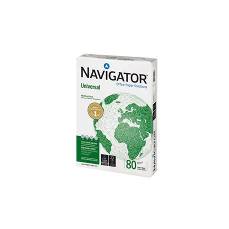 Carta bianca Universal - A4 - 80 gr - bianco - Navigator - conf. 500 fogli - ordine drop max 25 risme