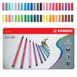 Pennarelli Pen 68 - 50 colori - Stabilo - scatola in metallo 50 pennarelli
